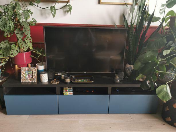 Ikea Besta szafka RTV czarny/niebieski