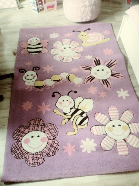 Piękny duży 170x 120 dywan dla dziewczynki duży