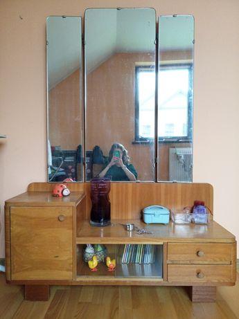 Meble dębowe, toaletka z lustrem, szafki