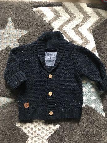 Sweter chłopięcy granat reserved 74