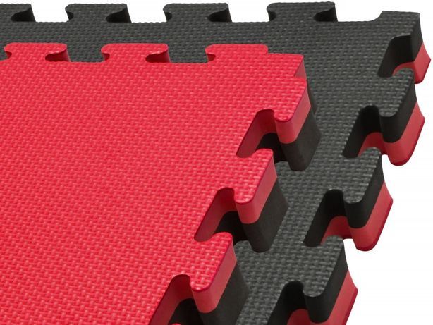 Mata PRO 4cm piankowa puzzle czarno-czerwona MMA JUDO treningowa II ga