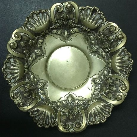 Taça fruteira salva de prata portuguesa antiga