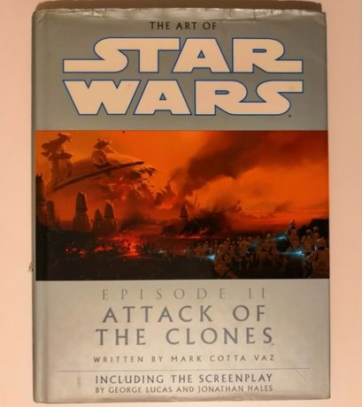 artbook gwiezdne wojny atak klonów, star wars attack of the clones