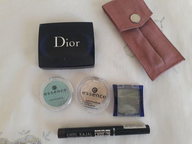 Cienie do powiek Dior (oryginał), Maybelline Essence, eyeliner