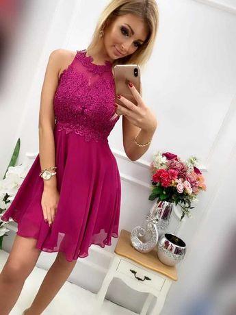 Sukienka Pretty Women, bugatti krótka, fioletowa, rozmiar 36(S)