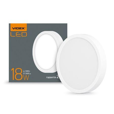 LED cветильник круглый накладной VIDEX 18W 5000K VL-DLRS-185 24626