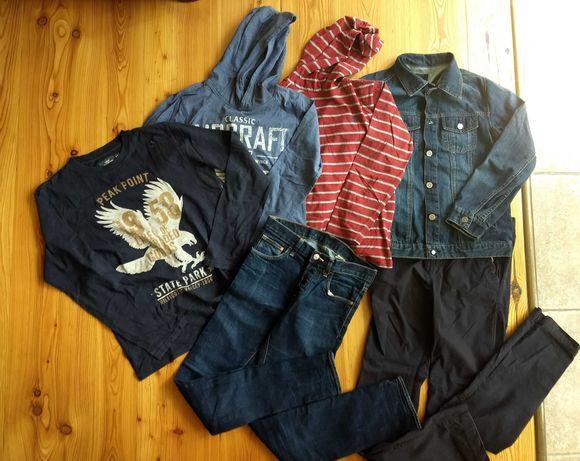 ZARA H&M 164 chłopięce 6 szt bluzki spodnie bluzy