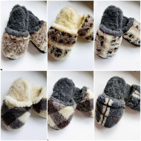 РАСПРОДАЖА Тапочки комнатные из овчины тапки чуни овчина домашняя обув