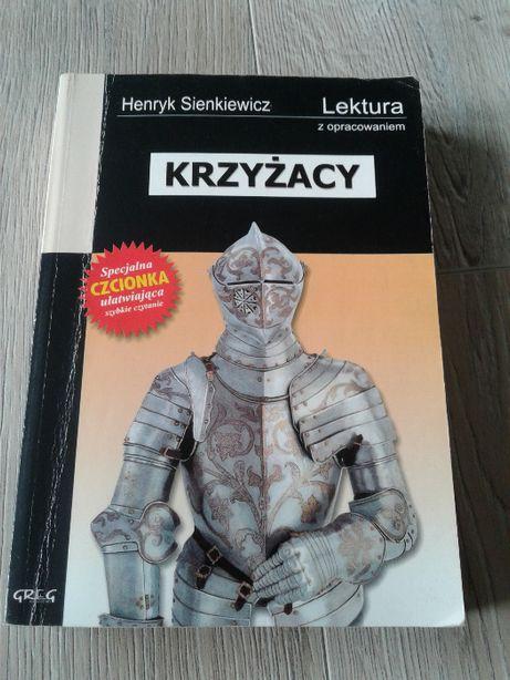 Książka Krzyżacy Henryk Sienkiewicz +opracowanie wygodna czcionka