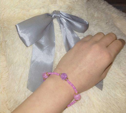 Sprzedam różową bransoletkę handmade