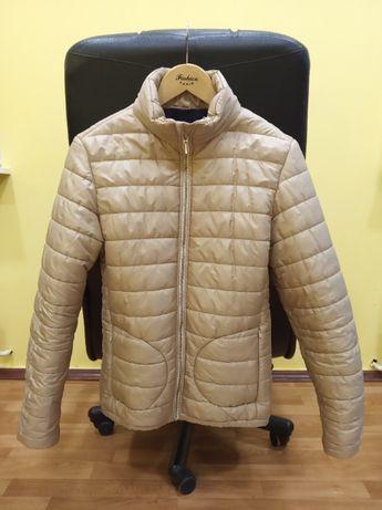 Куртка весна осень синтепон курточка весенняя бежевая + Подарок