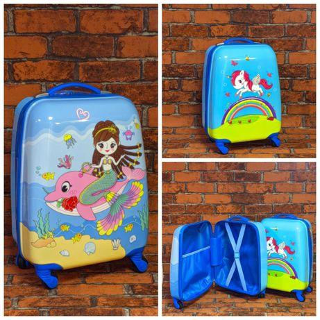 Детский пластиковый чемодан, сумка на колесах Склад Магазин