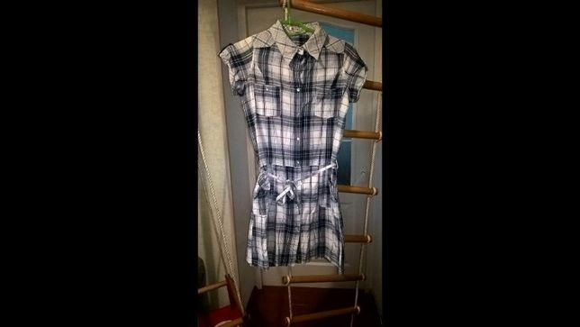Платье рубашка, платье в клетку