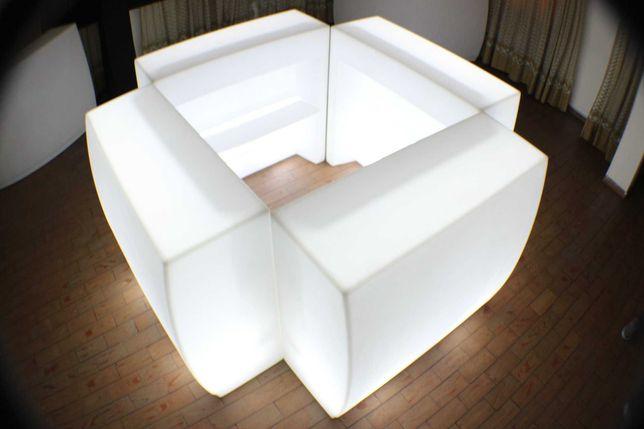 Balcão com iluminação led