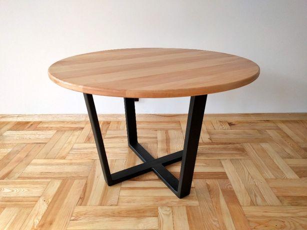 Stolik kawowy okrągły bukowy LOFT, INDUSTRIAL