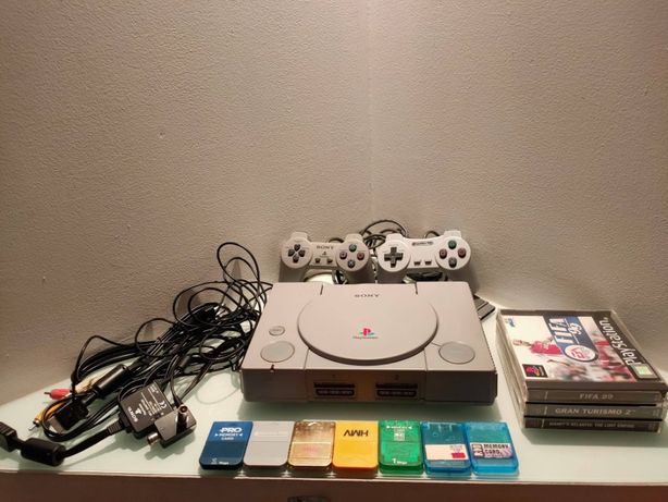 Sony Playstation 1 PSX SCPH - 1002 Audiophile przerobiona Zestaw gry
