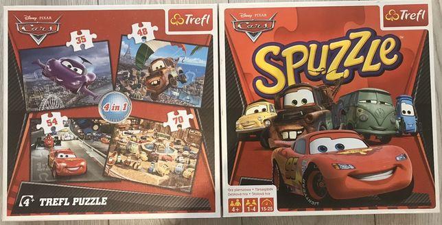 Zestaw CARS Zygzak Mattel:gra planszowa + puzzle. Stan idealny!