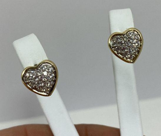 NOWE piękne złote kolczyki 1,95g / 585