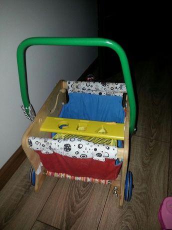 Wózek pchacz drewniany