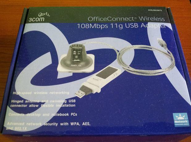 Adapter USB modem Wi-Fi WiFi karta 3Com 3CRUSB20075