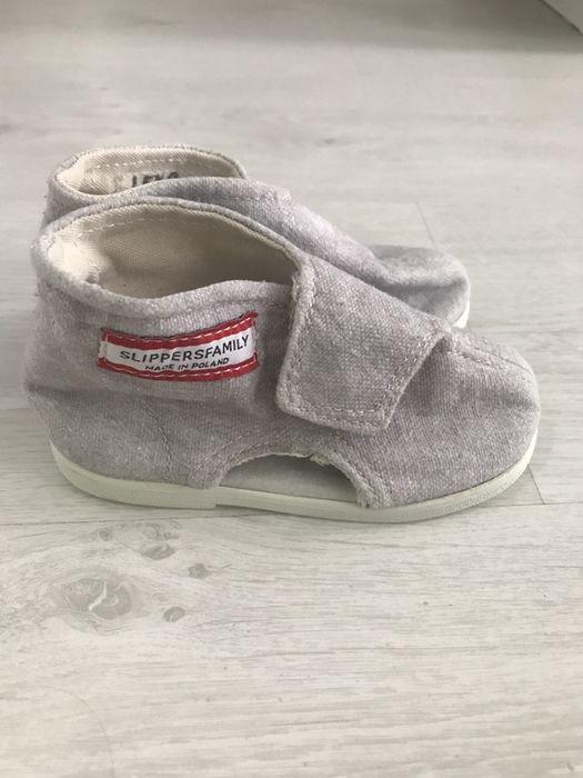 Slippers family kapcie buty do przedszkola 23/24 szare rzep Rzeszów - image 1