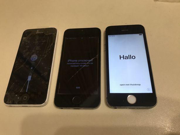 Iphone 5S /5C / 3 телефона / запчасти 16GB/32GB