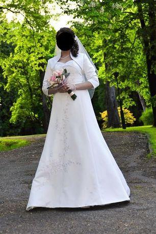 suknia ślubna 38 David's Bridal , haft