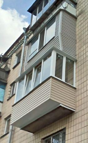 Балконы под ключ с расширением по полу, увеличение площади балкона