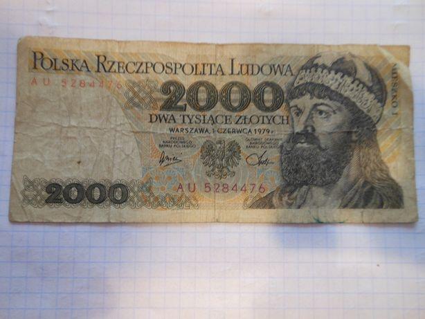 Banknot 2000 zł z Mieszkiem I I Inne.
