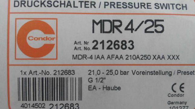 Реле давления MDR 4/25 condor