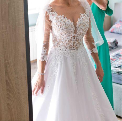 Suknia ślubna J. Estera Halma biała 2020 używana