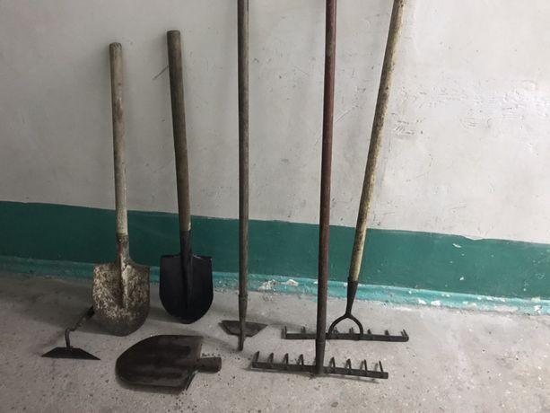 Лопата, грабли, сапки, лопаты, грабля, сапка