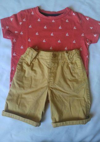 Котоновые шорты на мальчика 2-3 лет