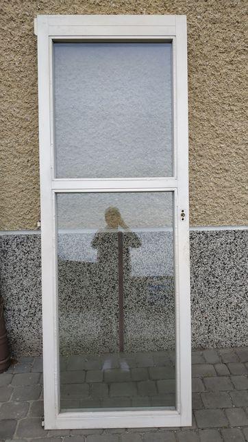 Drzwi Sokółka z demontażu bez ościeżnic- stan idealny-dwie szyby