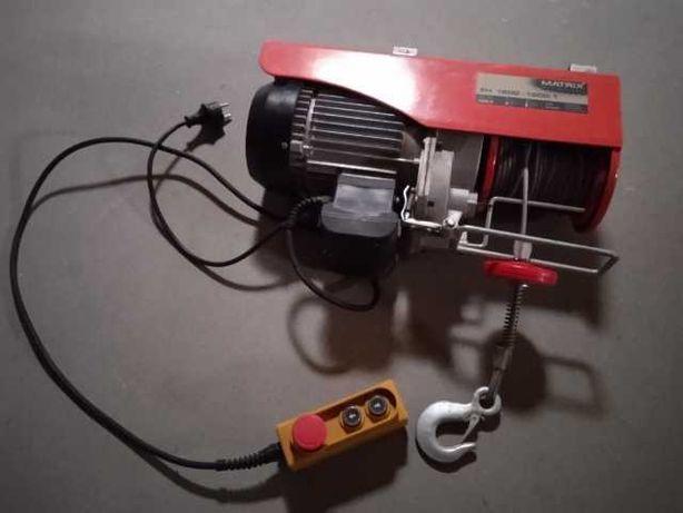 WCIĄGARKA WYCIĄGARKA MATRIX Elektryczna Linowa 230V 1000/500 kg