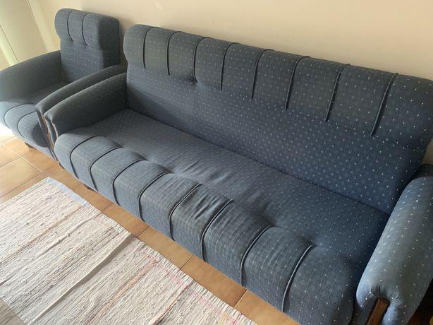 Conjunto sofás 3 lugares + 1 lugar