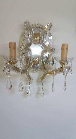 Vendo 2 candeeiros  de parede em cristal puro clipes 2 lumes