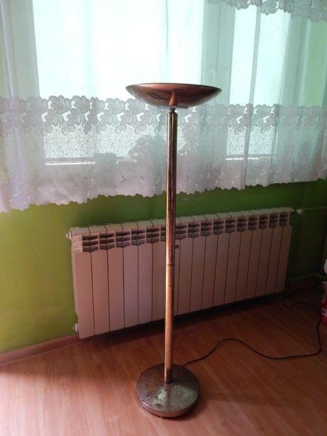 Lampa stojąca podłogowa z regulacją światła mosiądz złota