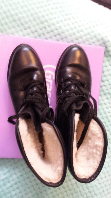 Skórzane buty zimowe marki Ecco rozmiar 39