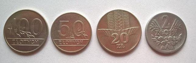 Monety PRL (2,20,50,100 zł)