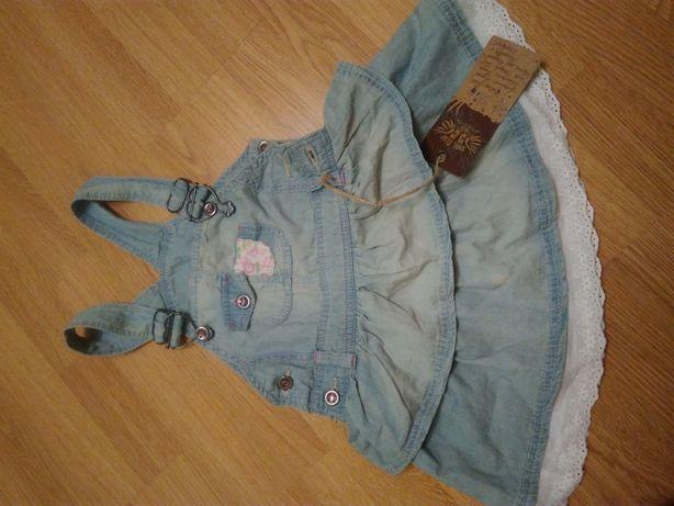 Сарафан джинсовый для девочки р.116
