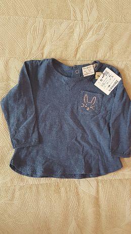 Bluzeczka Zara, długi rękaw na 80cm, NOWA!!!