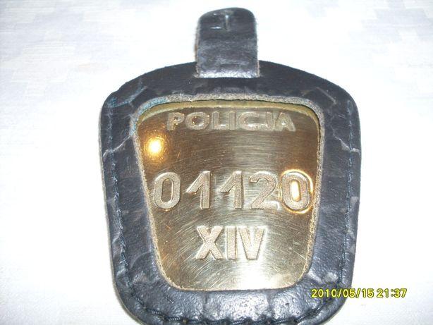 Identyfikator odznaka blacha POLICJA 1990r oryginał / milicja