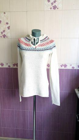 Шерстяной свитер капюшонка фирменная h&m новая
