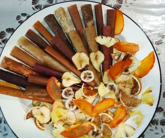 Пастила фруктово-ягодная и фруктовые чипсы