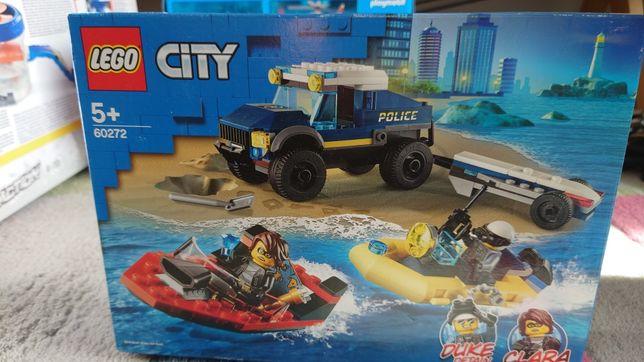 Nowe LEGO CITY Transport łodzi policji specjalnej 60272