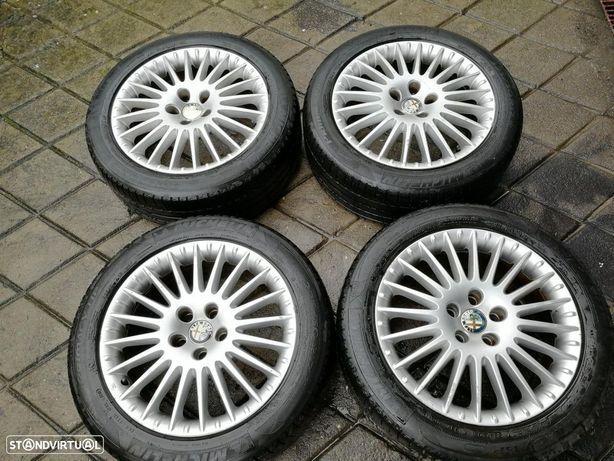 4 Jantes 17 alfa romeo 5x110 com pneus