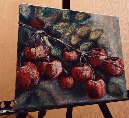 Картина маслом «спелая вишня»