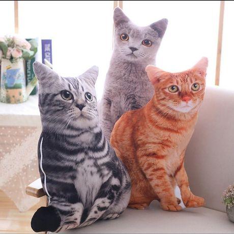 Подушка для декора 3д Кот,декор для дома