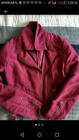 Замшева куртка жіноча